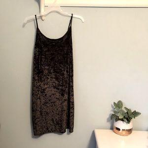 NWOT Victoria's Secret Black Velvet Slip Dress
